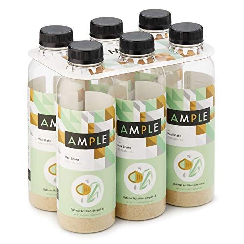 Ample - Meal Replacement Shake in a Bottle, (Pack of 6) Meals, Large 600 Calories, Made with Natural Real Food Ingredients