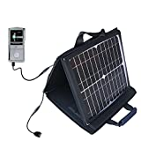 Gomadic SunVolt High Output Portable Solar Power Station designed for the RCA M4304 Opal Digital Media Player - Can charge multiple devices with outlet speeds