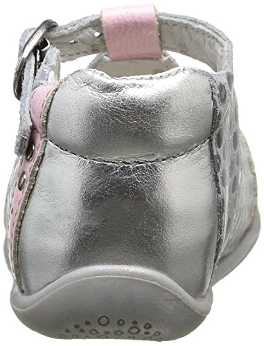 babybotte Potiron - Zapatos de primeros pasos Bebé-Niños Gris - Gris (006 Pois Gris/Rose)