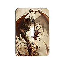 Skinny Dragon Metal Light Switch Plate / Single Toggle Great Gift Idea