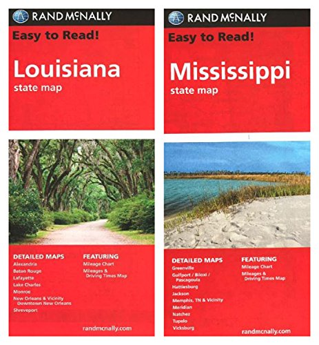 Rand McNally State Maps: Louisiana and Mississippi (2 Maps)