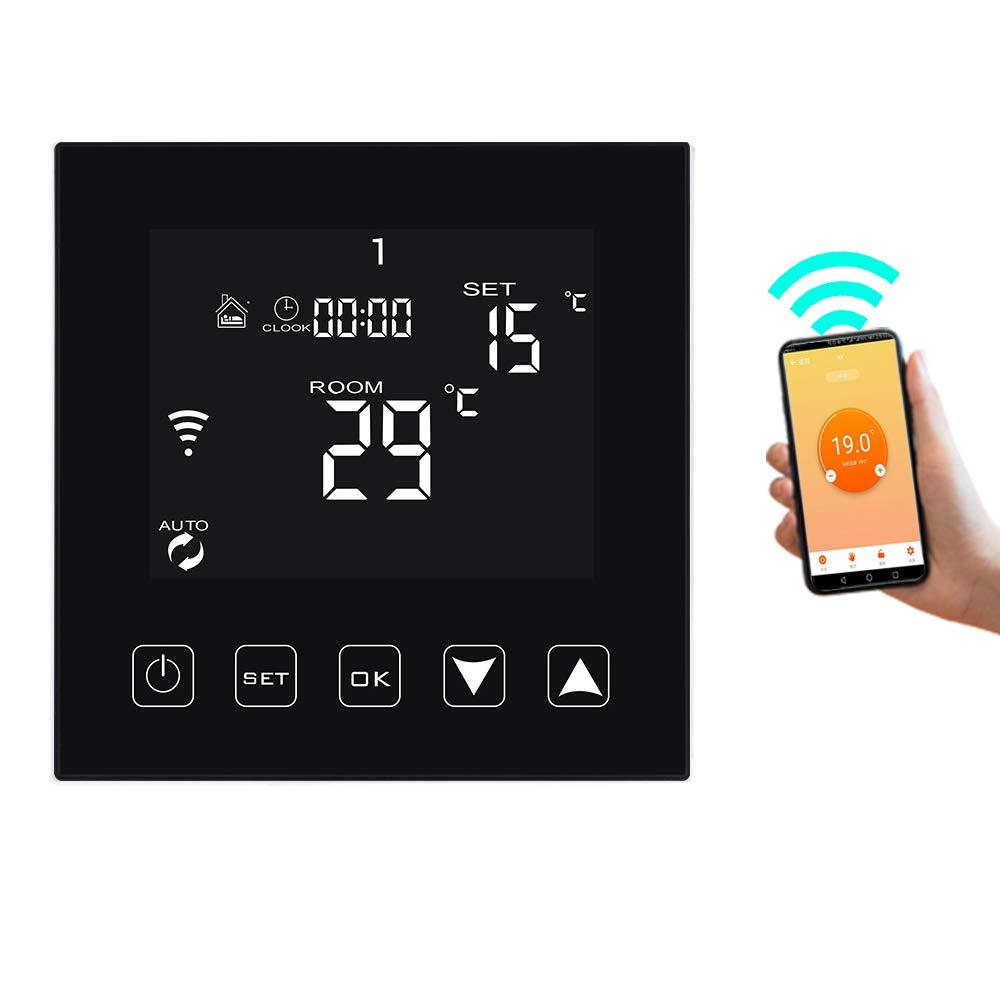KETOTEK Smart WiFi Thermostat f/ür Fu/ßbodenheizung Wasser Heizung 3A Kompatibel mit Alexa Echo//Google Home//IFTTT//Tuya Programmierbar Raumthermostat Warmwasser mit Bodensonde