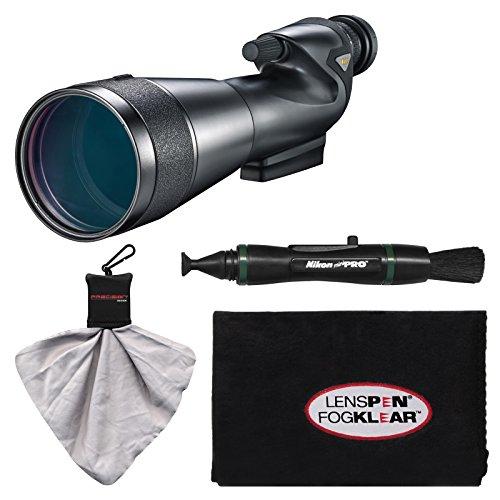 Nikon 20-60x82mm Prostaff 5 Straight Body Fieldscope Spotting Scope with Eyepiece with LensPen + Cleaning Cloth by Nikon
