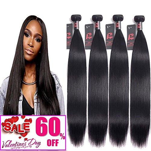 Mink 8A Virgin Malaysian Straight Hair 4 Bundles Unprocessed Human Hair Weave Bundles Remy Human Hair Extensions Mixed Length (22