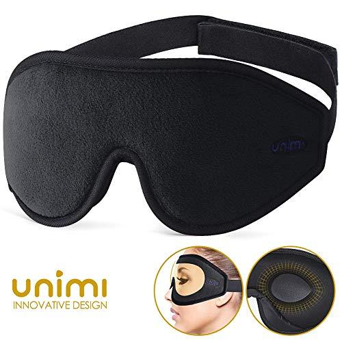 Masque-de-Sommeil-pour-Voyage-et-Home-Unimi-3D-Masque-de-Nuit-Masque-de-Yeux-Respirant-Ultra-Douce-en-Mousse--Mmoire-Noir