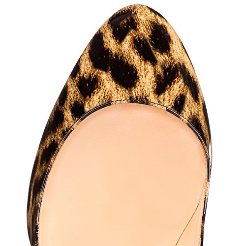 Pumppuja Mustaksi Umexi Slip Seksikäs Naisten Korkokenkiä on Toe Stiletto Monivärinen Leopardi Peep zqP6TwzxrS