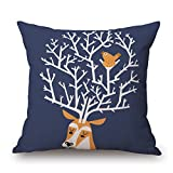 Bestseason Throw Pillow Covers Of Deer 18 X 18 Inches / 45 By 45 Cm,best Fit For Bench,festival,chair,bedroom,teens,kids Girls Two Sides