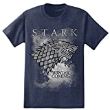 HBO'S Game of Thrones Men's Winter Is Coming Stark T-Shirt - Navy Heather (Large)