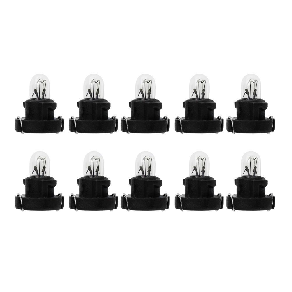Starnearby 10pcs T3 LED 12V Car Interior Instrument Light Bulbs Dashboard Lamps(Black)