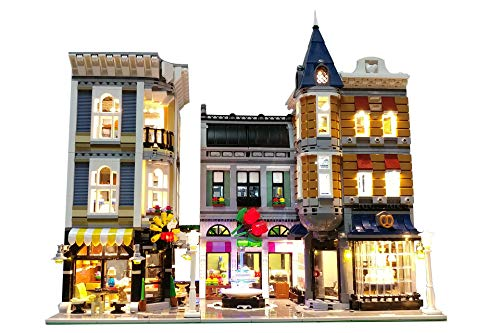 - Brick Loot Lighting Kit for Assembly Square Set 10255 (NO Lego Set Included)