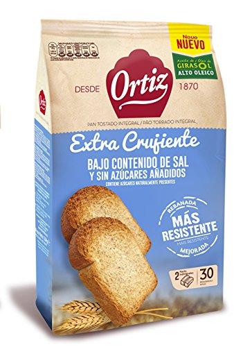 Ortiz Pan Tostado Integral sin Sal Añadida y sin Azúcar Añadido - 324 g