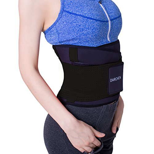 DARCHEN Back Pain Relief Belt Lower Back Massage Brace Therapy Lumbar & Waist Support Belt For Scoliosis, sciatica For Women & Men (Black, Large) Golfing Around Sports Bag