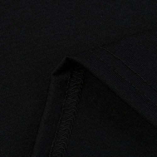 Femmes Dcontracte T Noir pouce Hauts Malloom trous shirts vrac En Chemisier avec Patchwork des de rwrqX6Td