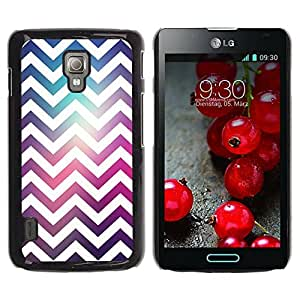Paccase / SLIM PC / Aliminium Casa Carcasa Funda Case Cover para - Purple Teal Space Reflective Fashion - LG Optimus L7 II P710 / L7X P714