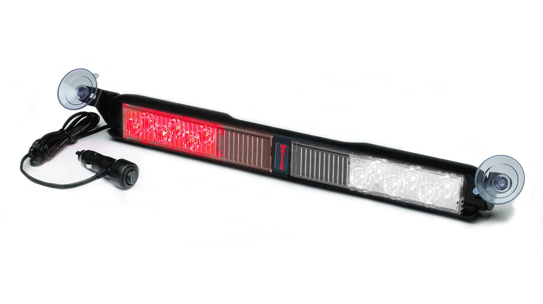 Whelen Engineering SlimLighter Super-LED Series Deck/Dash Light - Red/Clear