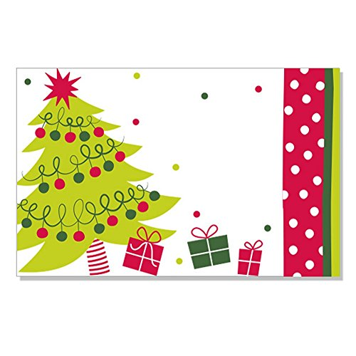 Jolly Christmas Tree Enclosure Cards / Gift Tags - 3 1/2 x 2 1/4 ()