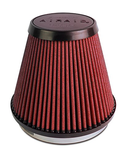 Airaid 701-466 Universal Clamp-On Air Filter: Round Tapered; 6 in (152 mm) Flange ID; 6 in (152 mm) Height; 7.25 in (184 mm) Base; 4.75 in (121 mm) Top