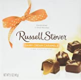 Russell Stover Dairy Cream Caramels, 5.1 Ounce Box, Sweet Dairy Caramel and Chocolate Covered Candy Box, Chewy Buttery Caramel Covered In Smooth Chocolate Candy in a Gift Box