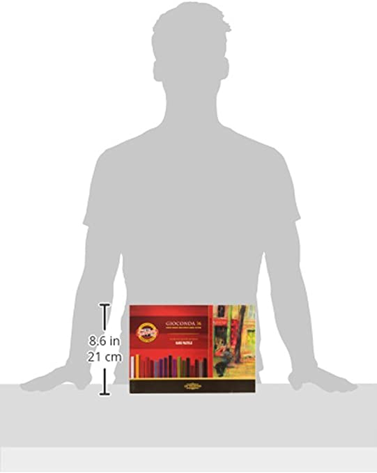 Koh-I-Noor Gioconda 8196 - Caja de pasteles duros (48 unidades, en caja de madera): Amazon.es: Oficina y papelería