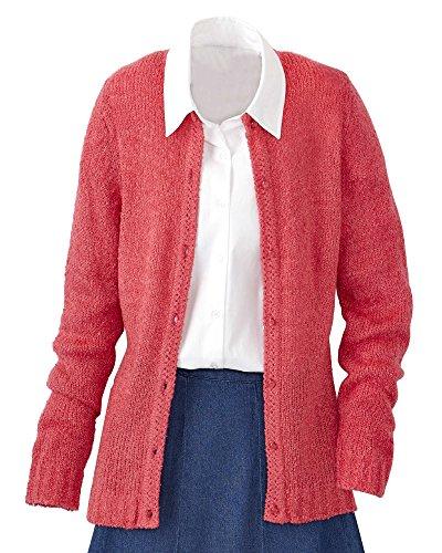 Omega National Bouclé Cardigan Sweater, Tulip, 3X