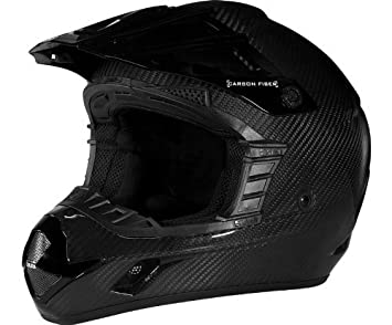 509 de fibra de carbono casco brillante negro