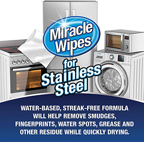 MiracleWipes for Stainless Steel (60 Count)