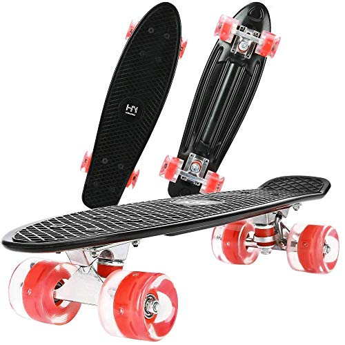 "ToyerBee Skateboards 22""with Colorful LED Light Up Wheels"