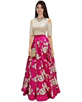 7th Feb Women's Chiffon Silk Lehenga Choli (7 101 Pink5_Pink_Free Size)