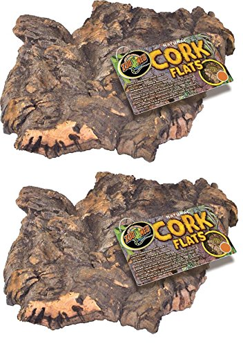 51unrtnF8LL - (2 Pack) Zoo Med Natural Cork Bark Flat, Small