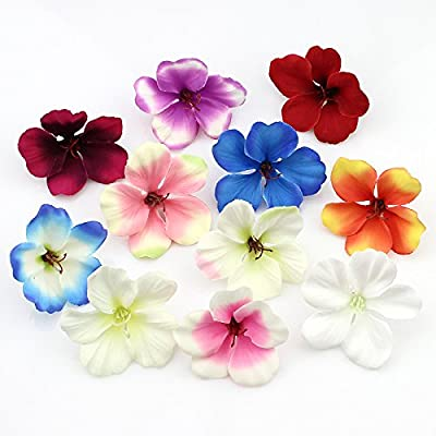 100pcs/lot Spring Silk Orchid Artificial Flower Heads Gladiolus Cymbidium Flowers For Wedding Decoration