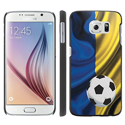 Mobiflare, Slim Clip-on Phone Case, for [Samsung Galaxy S6 G920] - Ukraine Flag with Soccer Ball (World Cup Ukraine)