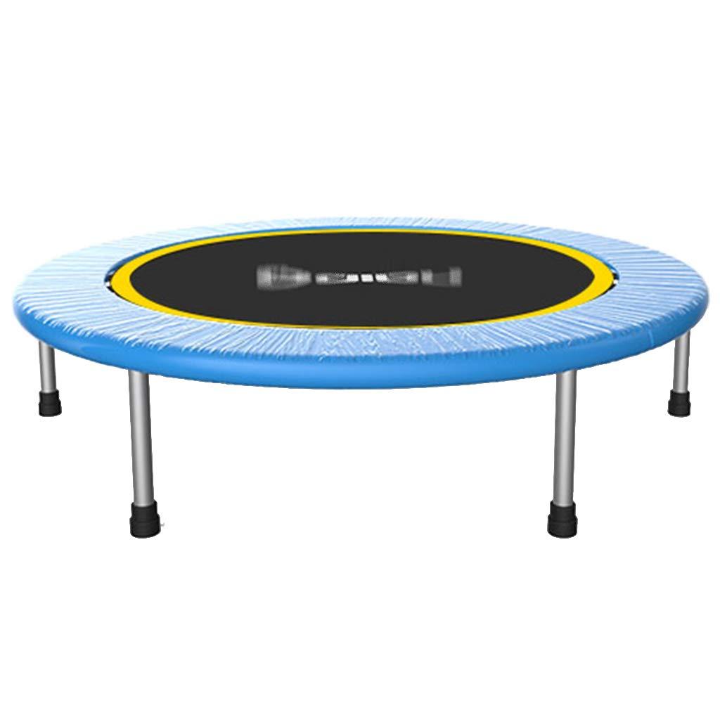 Trampolin Erwachsene Fitness Hause Kinder Falten Indoor Prellen Gewichtsverlust Sprungbett Falten (Farbe : Blau, Größe : 100  100  26cm(40inch))
