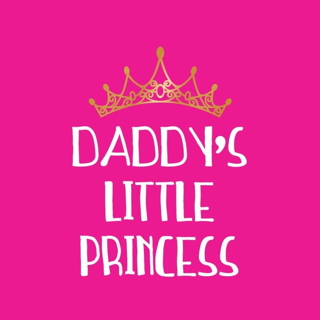 Coto7 Daddys Little Princess White Font Gold Tiara Kids Hooded Sweatshirt