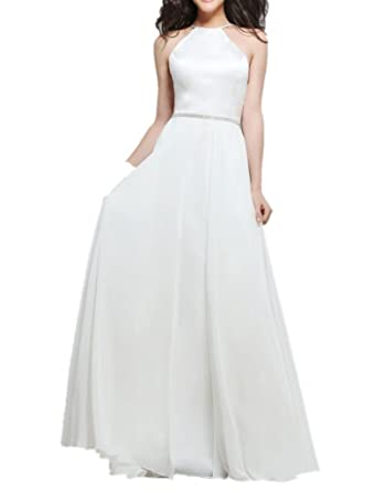 La _ Marie Bridal White Single Glazing Elegant Dresses Party Dresses Prom Dresses Long Evening A