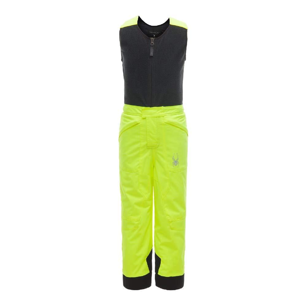 Spyder Boys' Mini Expedition Ski Pant, Bryte Yellow/Black/Black, Size 3
