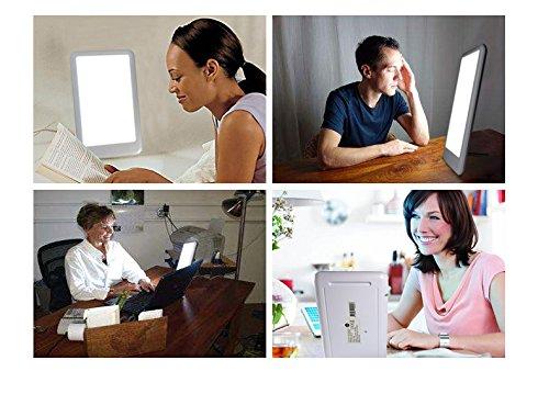 EPHVODI Happy Light Daylight Happy Energy Lightbox Good Mood Therapy Energy Bright White LED Lamp-100% UV Free by EPHVODI (Image #6)