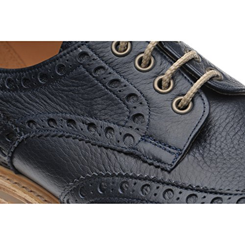 Herring  Herring Fermyn, Chaussures de ville à lacets pour homme bleu Navy Deerskin