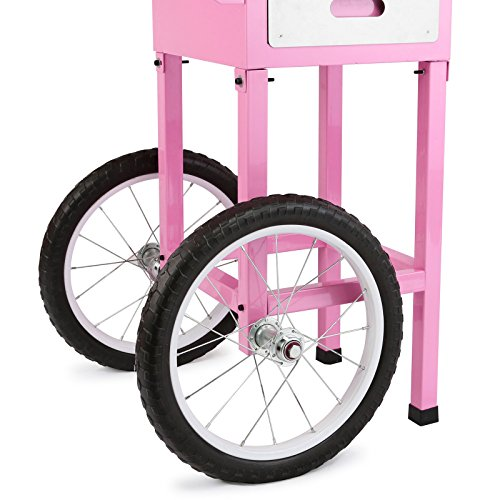 FoodKing Cotton Candy Machine Candy Floss Maker Electric Floss Maker Cart Kit Commercial Use 1030W for Wedding Party (Cotton Candy Machine with Cart) by FoodKing (Image #5)