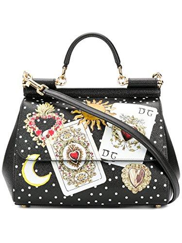 Dolce E Gabbana Women's Bb6002as175hnm70 Black Leather - Black Dolce And Bag Gabbana