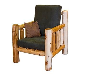 Amazon.com: Rústico Blanco de cedro Log salón armchair ...