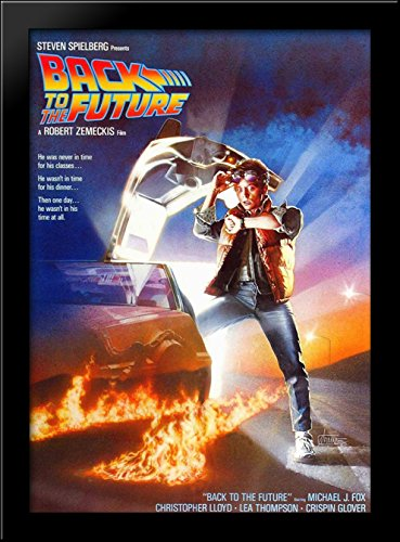 Back to the Future 28x38 Large Black Wood Framed Print Movie