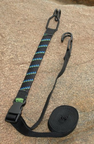 ROK Straps 18''-10ft Adjustable Tie Down with Hooks