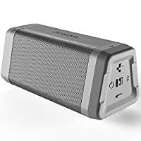 AOMAIS Real Sound Portable Bluetooth Speakers Waterproof Durable Wireless Speakers Loud Bass Built-in Microphone, 20 Hours Playtime, Bluetooth 4.2, 100ft Range for Home Outdoor, Travel (Grey)