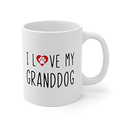 Tafelen I LOVE MY GRANDDOGS 11oz Mug