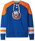 NHL New York Islanders Men's Centre Long Sleeve Crew Neck Pullover Sweatshirt, Medium, Royal/Orange/White