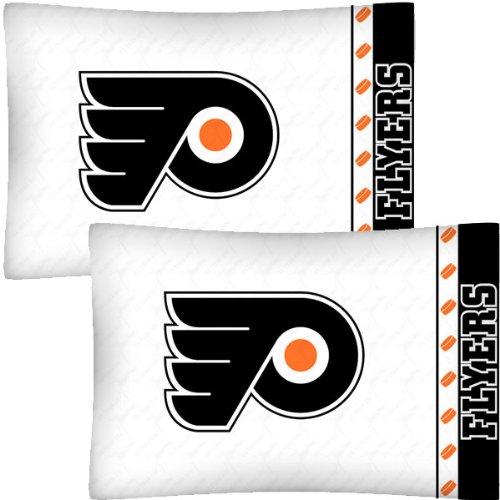 NHL Philadelphia Flyers Hockey Set of 2 Logo Pillow Cases