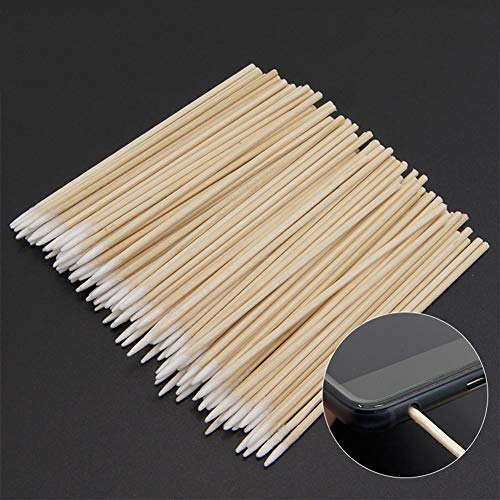 Price comparison product image 100pcs Clean Cotton Swab Stick for AirPods,  Phone Charging Port & Earphone Hole Cleaning Tools