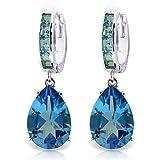 ALARRI 13.2 CTW 14K Solid White Gold Caress Love Blue Topaz Earrings