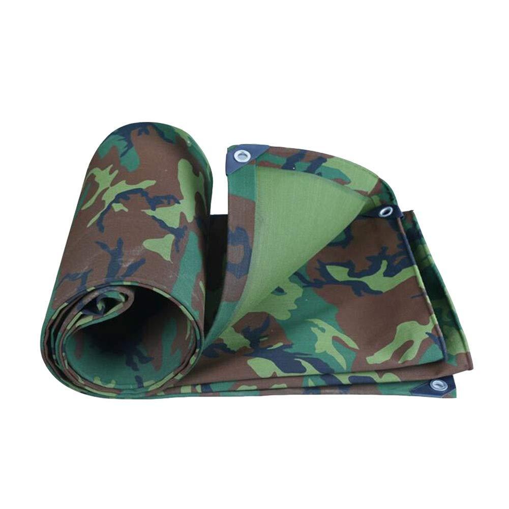 DALL ターポリン ヘビーデューティ 迷彩タープ 防水 500g /㎡ レインプルーフ 屋外防塵 釣り キャンプ (Color : 緑, Size : 6×8m) 緑 6×8m