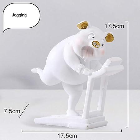 CCWDRZ Estatua-Europa 12 Patrones Cute Yoga Figuras de Cerdo ...